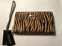DUNE LONDON LEOPARD GENUINE CALF HAIR LEATHER WALLET NEW AUTHENTIC Fast Shipping