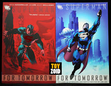 DC Comics Superman For Tomorrow Vol 1 & 2 2004 Jim Lee Trade Paperback TPB Set