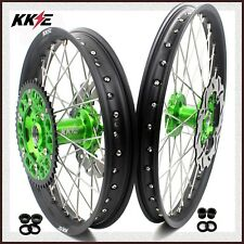 KKE 21/19 SPOKED MX WHEEL SET FOR KAWASAKI KX125 KX250 1993-2002 REAR 220MM DISC