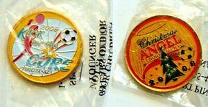 Soccer Flip Coin 2008 Kick For A Cure & 2008 Christmas Angel Tournament Phoenix