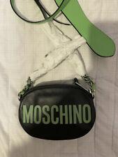 Moschino Women's Green Leather Crossbody Bag