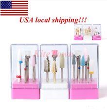 7 Pcs Ceramic Nail Drill Bits Set Electric File Manicure Pedicure Nail Art Tools