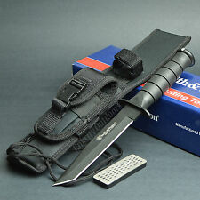 Smith & Wesson Search & Rescue 7Cr17 Tanto Point Fixed Blade Knife CKSURT New
