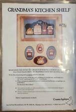 """Grandma's Kitchen Shelf"" Country Appliqués Pattern by Jan Kornfeind 1982 New"
