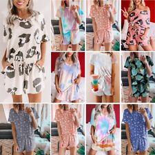 2PCS Women Summer Tracksuits Set Lounge Wear Ladies Top Suit Pants Loungewear Ce