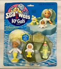 KENNER Sea Wees Icy Gals SHELLY, BABY PEARL and SHIVERS SEALION - Unopened