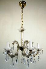 schöne alte Deckenlampe Kronleuchter Kristalllüster 5flg