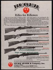 1980 RUGER Model 77~Number One~Number 3~44 Carbine~Mini-14 Auto Rifle AD