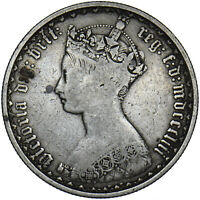 1853 GOTHIC FLORIN - VICTORIA BRITISH SILVER COIN