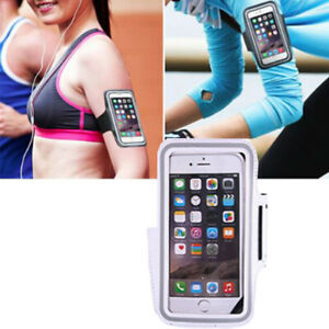 Sport White Armband Holder For Galaxy S4 S5 S6 S8/+/S7/Edge Note3