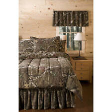 Camo Comforter Set Mossy Oak Quilt Shams Cotton Polyester Nature Hunting Tan Queen