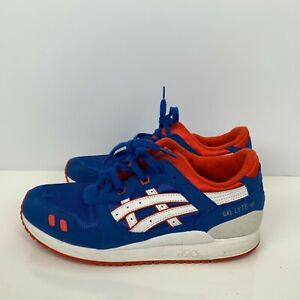 Asics Gel Lyte III Running Shoes Blue White Orange Mens Size 7