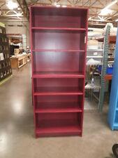 "Custom Dark Red Design Storage Unit Design Furniture 34""x 16""x 80""  6 Shelves"