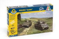 Italeri 7520 M4A3E2 'Jumbo' Sherman Set of Two 1/72 Scale Plastic Model Kits
