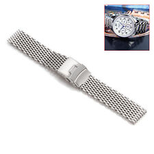 18mm 20mm 22mm 24mm Stainless Steel Shark Mesh Watch Band Silver Color