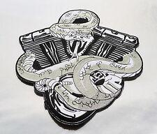 Twin Cam Motor,Patch,XL,Rückenaufnäher,Badge,25cmx23cm,Biker,Kutte,Aufbügler,HD