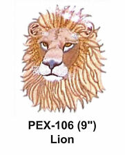 """LION Embroidered Animal Patch (9"""")"""