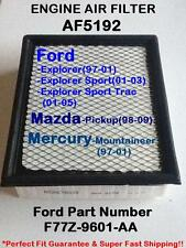Ford Mazda Mercury Quality Air Filter Explorer 97-01, Pickup 98-09... AF5192 ^o^