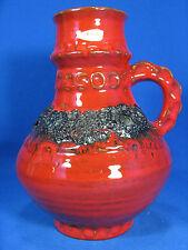 """70´s design """"Fat Lava"""" Kreutz Keramik Krug Vase / jug vase original label 21 cm"""