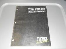 Arctic Cat Factory Service Repair Shop Manual 1985 Cougar AFS / EL Tigre AFS