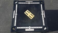 Gloss Black Inlay Domino Table by Domino Tables by Art