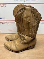 Vintage Tan Cowboy Boots Mens Size 8.5 EE