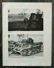 AQ) Blatt 2.WK 1940 Pak feuert Polnischer Panzer Polen Soldaten Marsch Ort WWII