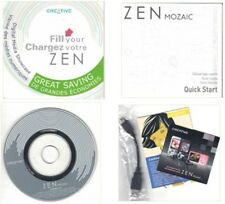 Creative Zen Mozaic Installation Guide Cdrom Quick Start Guide Oem Sync Cable