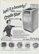 """1955 Print ad for CREDA STAR ELECTRIC COOKER 30cm x 23.5cm (12"""" x 9½"""")"""