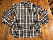 CREWCUTS Boy's Gray Plaid Oxford Shirt- Size 14- Retails $45
