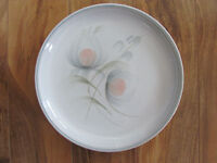 Denby/Langley-Made in England -Whisper-Peach & Gray Design - Dinner Plate(s)