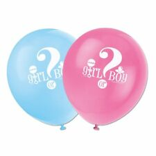 8 boy or girl balloons baby shower baby reveal