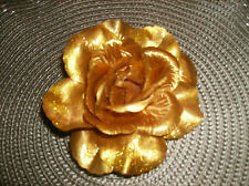 Gold Flower Pin attached Use on lapel, purse, hat, dress package bow NEW