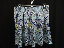INC International Concepts Petite Pleated Paisley Print Mini Skirt 6P #2556