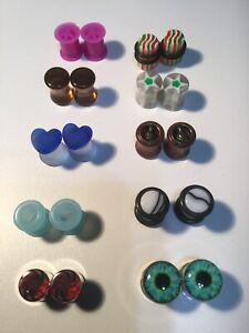 Og  8mm Ear Gauges/Plugs Lot Of 10 Pair (New) Lot G