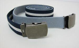 Salt + Dapper Ivy Leaguer Canvas Set of 2 Belts Blue