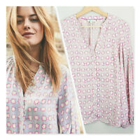 [ BODEN ] Womens Pow / Star Print Harriet Blouse Top   Size AU 12 or US 8