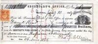 "CIVIL WAR 1866 General Allen, WI ""Iron Brigade""  Signed Draft"