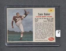 1962 Post #74 Sam Baker (Browns) (P10) (Red)  Ex-Mt  (Flat Rate Ship)