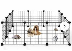 Allisandro Small Pet Playpen Cage for Indoor Outdoor Use Portable Metal Wire ...