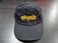 VINTAGE Aerosmith Snap Back Hat Cap Black Yellow Train Kept Rollin Concert Tour