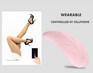Ultra Soft Wireless App Bluetooth Remote Control Invisible Pad Vibrator in Panty