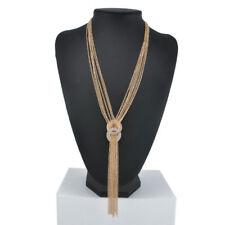 Fashion Charm Pendant Chain Crystal Jewelry Choker Chunky Statement Bib Necklace Ns49 Gold