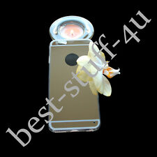 Mirror Crystal 65 Bling Silicone Soft Gel Case Back Cover Fits IPhone Apple