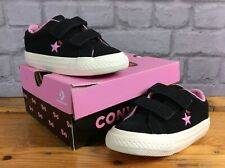 CONVERSE  UK 7 EU 23 ALL STAR HELLO KITTY BLACK SUEDE TRAINERS GIRLS CHILDRENS