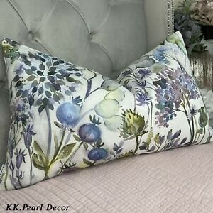 """12"""" X 20"""" Voyage Hedgerow Lilac Fabric English Country Home Cushion Cover Floral"""