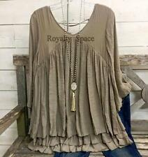 TAUPE LADY- GIRLS BOHO-CASUAL FASHION BLOUSE & TUNIC LOOSE FITTING PLUS SIZE  1X
