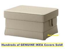 Ikea Ektorp Bromma Footstool Ottoman cover Slipcover TYGELSJO BEIGE New! SEALED