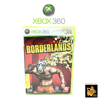 Borderlands  (2009)  2K Video Games Xbox 360 Game Case Manual Disc Tested Works