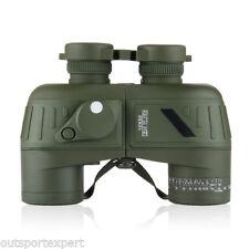 Multi Coated Waterproof 10X50 Marine Hunting Binocular With Range Finder Compass